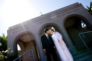 A Mormon Image:  Newport Beach Temple Wedding