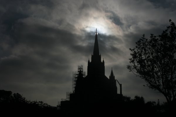 A Mormon Image: San Diego Temple at Sunrise