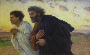Eeugen Burnand, The Disciples Running to the Sepulchre, 1898.