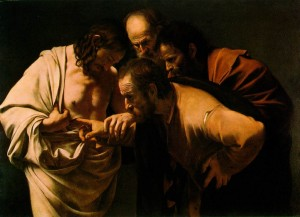 "Caravaggio, ""The Incredulity of St. Thomas,"" c. 1603."