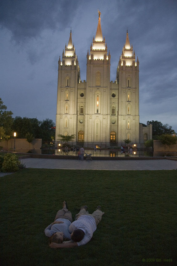 A Mormon Image: Temple Lovers