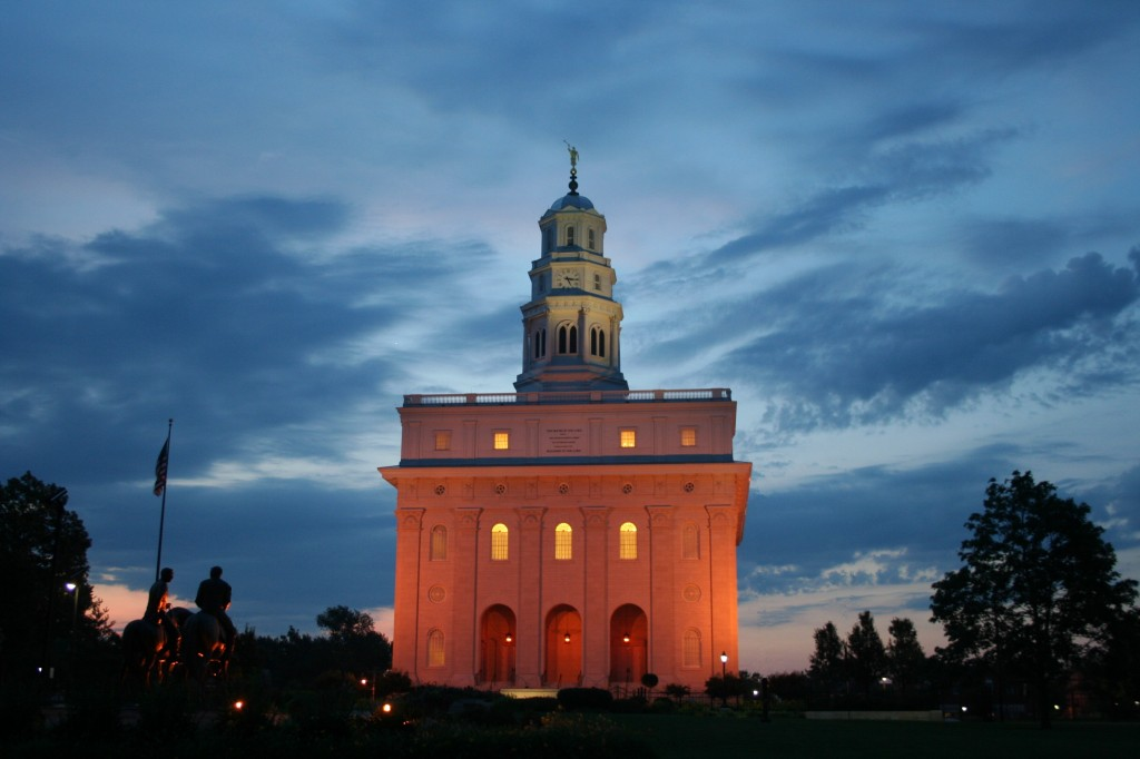 A Mormon Image: Nauvoo Temple at First Light