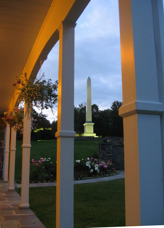 A Mormon Image: Joseph's Birthplace Memorial At Dusk